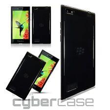 Blackberry Leap caso compuesto TPU flexible duragel Humo Negro Central automática unitaria ™