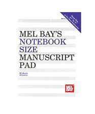 """Notebook-Size Manuscript Pad 10-Stave by Mel Bay  8 1/2"""" by 11"""""""