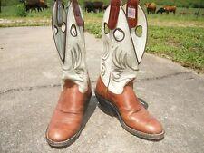 Olathe Buckaroo Boots 5 1/2 Cowgirl spur ridge pull holes fit like womens 6