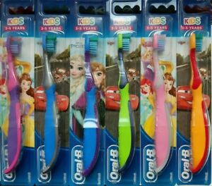 DISNEY Oral B Timer App Frozen Cars + Kids Toothbrush 3-5 Yrs Character Colour