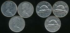 Canada, Group of 3 Elizabeth II 5 Cent Coins (1975, 1977, 1978) - Very Fine