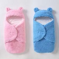 KQ_ Newborn Infant Baby Faux Lamb Wool Soft Swaddle Wrap Sleeping Bag Winter War