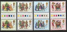 GB 1978 Christmas traffic light gutter pairs MNH. Unfolded stamps. Free postage!