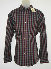 Age Of Wisdom Mens L/S Shirt Size XL Charcoal Gray Check Pattern Snap Buttns NWT