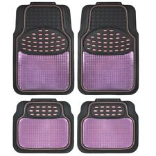 Metallic Car Floor Mats for All Weather Rubber Heavy Duty Protection for Auto
