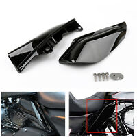 Mid-Frame Air Heat Deflector Trim Accents Shield For Touring Road Street/Glide