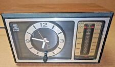 Vintage GE ALARM CLOCK RADIO Model No. 7-4501D Walnut Grain Retro AM