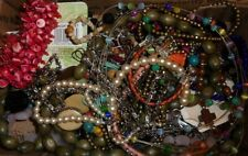 JUNK DRAWER FASHION JEWELRY LOT REPAIR WEAR SCRAP #MC10Y