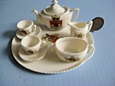 Crested ware dolls tea set Folkstone