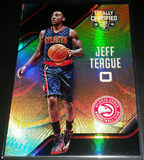 Jeff Teague 2015-16 Totally Certified MIRROR GOLD Parallel Card (#'d 09/10)