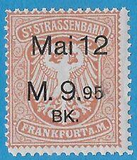 + 1912 Frankfurt Germany Tramway St.Strassenbahn Revenue Bob May 9.95 Marks MNH