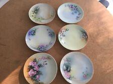 "Set/6 Vintage Small 6"" Bavaria, Germany Hand Painted  Plates!"