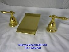 Pvd Gold Waterfall Allbrass Sink Faucets 826Pl