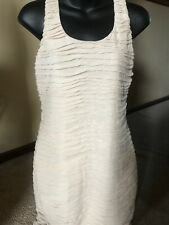 NWT Wet Seal Womens Sleeveless Bodycon Ivory Dress ~ M