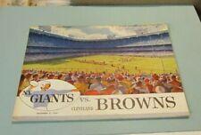 1959 New York Giants Cleveland Browns NFL Football Game Program Frank Gifford