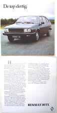 Renault 30 TX 1979 Original Dutch Market Sales Brochure
