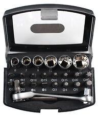 AEG set utensili 6 boccole+16 punte cacciavite+chiave a crichetto