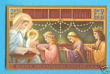 Vintage 1930's Holy Card MARY Queen of the Most Holy Rosary Mother Nealis art