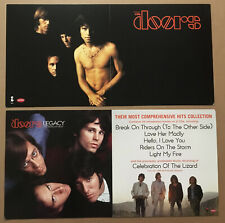 Jim Morrison THE DOORS Rare 2003 DOUBLE SIDED PROMO POSTER FLAT of best CD 24x12