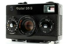 【EXC++++】 Rollei 35S Black 35mm Film Camera HFT Sonnar 40mm f2.8 Lens From JAPAN