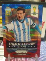 2014 Panini Pruzm World Cup Lionel MESSI WORLD CUP STARS RED BLUE WAVE PRIZM #1