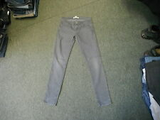 "Forever 21 Denim Skinny Jeans Size 6 Leg 29"" Black Faded Ladies Jeans"