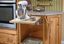 """Kraftmaid Pull Out Mixer Shelf Fits Any Brand 21"""" Wide OD Kitchen Base Cabinet"""