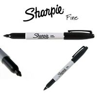 Sharpie Black Marker Pen Permanent Fine Bold Bullet Tip Point Pens Art Craft DIY