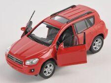 Livraison rapide toyota rav 4/rav4 rouge/red welly modèle auto 1:34 NOUVEAU & OVP