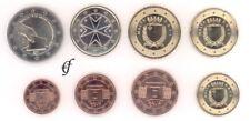 Malta alle 8 Münzen 2011 mit 2 Euro Gedenkmünze Wahl
