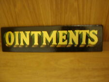 Ointment Apothecary Poison Chemist Pharmacy Bottle Pot Lid Eye Bath Vintage Sign