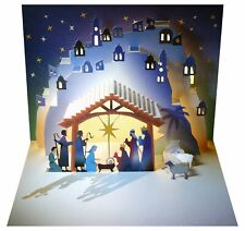 Corte láser tarjeta Pop Up-Navidad Natividad, el pesebre-POP107