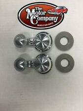 1965-1981 CHEVY OLDS BUICK VENT WINDOW CRANK HANDLE CLEAR KNOB SET OF 2