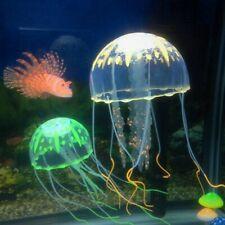 1pc Artificial Aquarium Jellyfish Ornament Decor Glowing Fish Tank Aquatic home