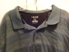Mens Izod Teal Colored S/S Polo Golf Shirt Size XXL