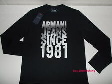 Genuine Authentic Armani Jeans T-Shirt Long Sleeve Label Price 55£