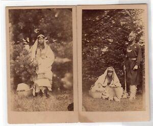 1864 US Civil War Era Native American Indian Wedding Photo Pair w/ Tax Revenue