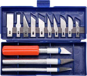 Präzisionsmesser 16 tlg  Messerset Skalpell Messer Schnitzmesser Skalpellhalter