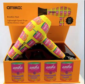 Amika Brooklyn Heat Lightweight Speed Dryer Limited Edition Warhol Soup Can--NIB