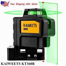 360 Green Laser Light Line Level Rotary Laser Self Leveling Kaiweets Kt360b