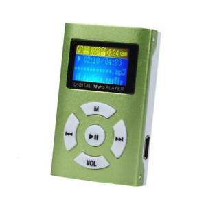 AIKEGLOBAL Hifi USB Mini MP3 Music Player LCD Screen Support 32GB Micro SD TF Ca