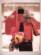 Marlboro Cigarette PRINT AD - 1971 -- Marlboro Man -- Marlboro Country