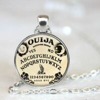 Halloween Costume Ouija Board Necklace Chain Pendant Glass Cabochon Charm Gift