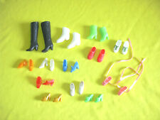 barbie hong kong vintage lot lotto scarpe stivali shoes anni 70 80 13 paia