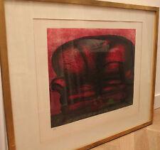 Francisco ROCCA LYNN - Gravure grabado signée PA canapé rouge 1984 Colombia