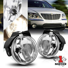 Chrome Housing Clear Lens Fog Light Bumper Lamps for 01-06 Dodge Stratus/Sebring