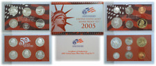 2005-S 11 Coin Silver Proof Set Toning And Or Smokiness OGP W/COA