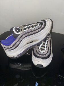 """Nike AIR Max 97 Mens US 9.5 """"PERSIAN VIOLET"""" White/Black 921826-103 Sneakers"""