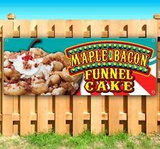 Maple Bacon Funnel Cake Advertising Vinyl Banner Flag Sign Many Sizes Fair