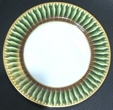 "New Philippe Deshoulieres Jardin De Florence Brown/Gold Border Leaves Plate 8.5"""